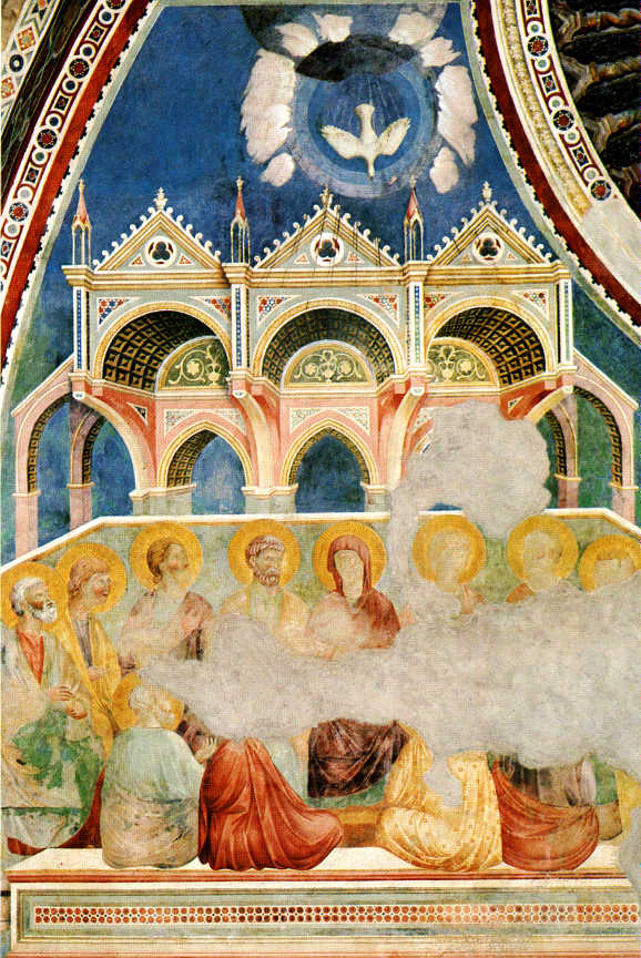 The Pentecost by Giotto di Bondone (ca. 1266 - 1337), Assisi, Upper Basilica