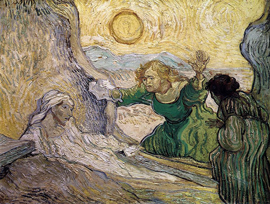 Raising of Lazarus by Van Gogh