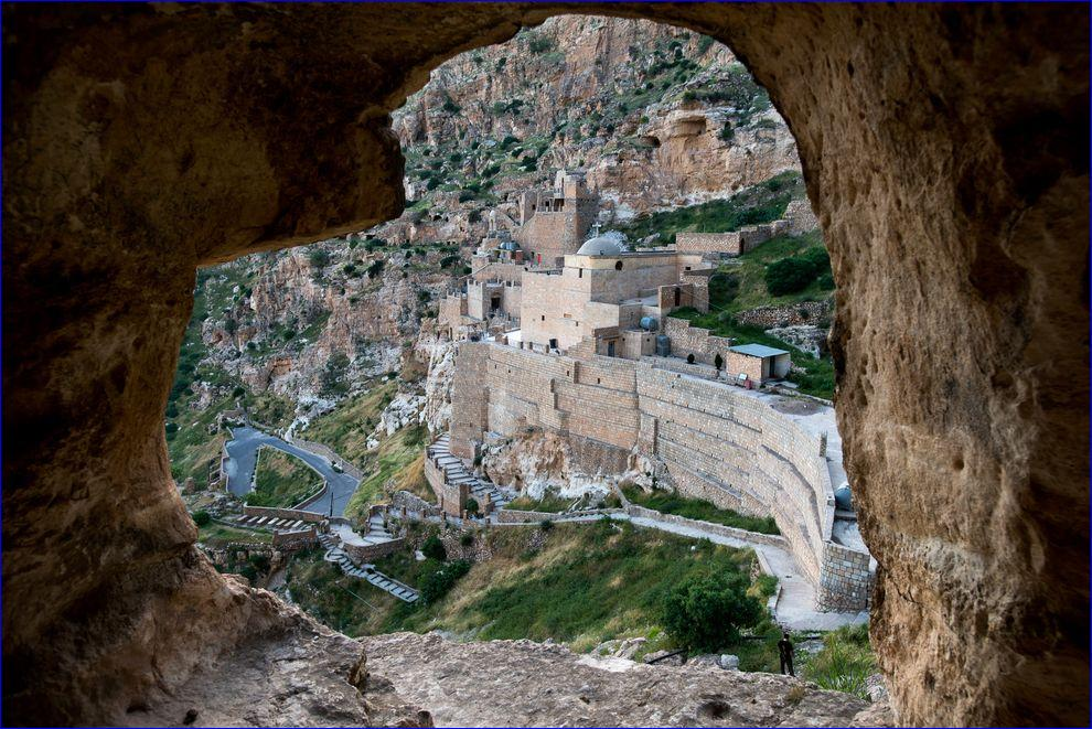 Seventh-Century Rabban Hormizd Monastery Overlooks the Nineveh Plains in Iraq