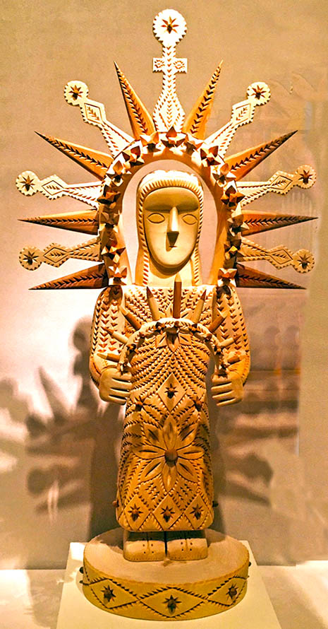 Our Lady of Light by Gloria Lopez Cordova; Smithsonian American Art Museum. Photo for Malankara World by Dr. Shila Mathew, MD, 2018