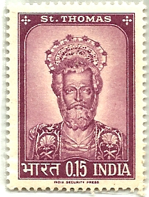 Indian Postage Stamp on St. Thomas