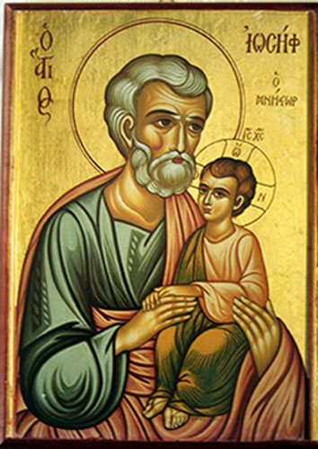 St. Joseph with Jesus - ICON
