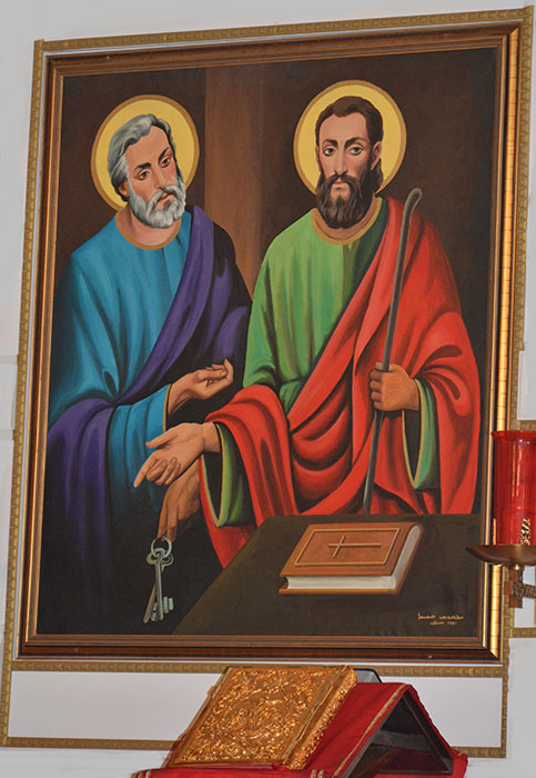 St. Peter and St. Paul - Painting from the St. Peter and St. Paul Syriac Orthodox Church, Southfield, MI