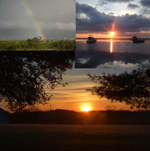 Sunrise at Australia, Hawaii and America's Northcoast