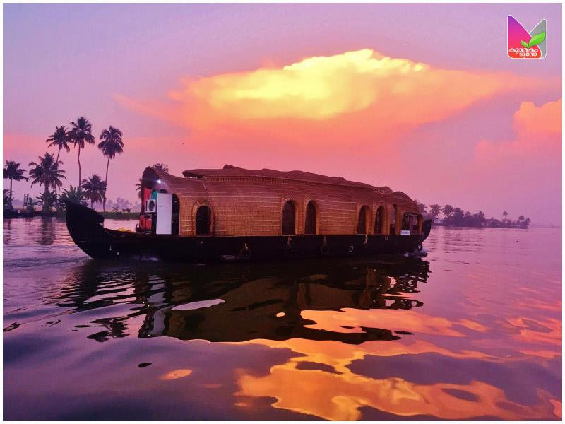 Sunset in Vembanad, The Backwaters of Kerala