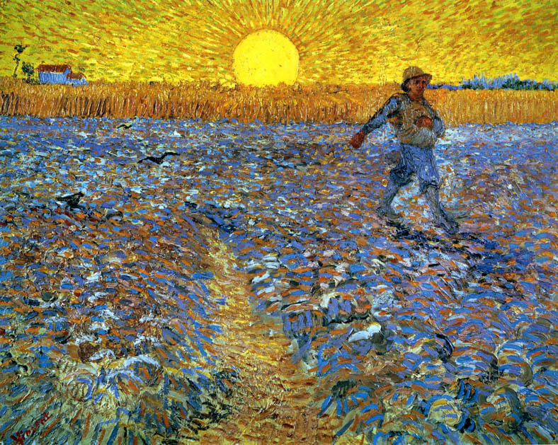 The Sower with Setting Sun by Vincent Van Gogh
