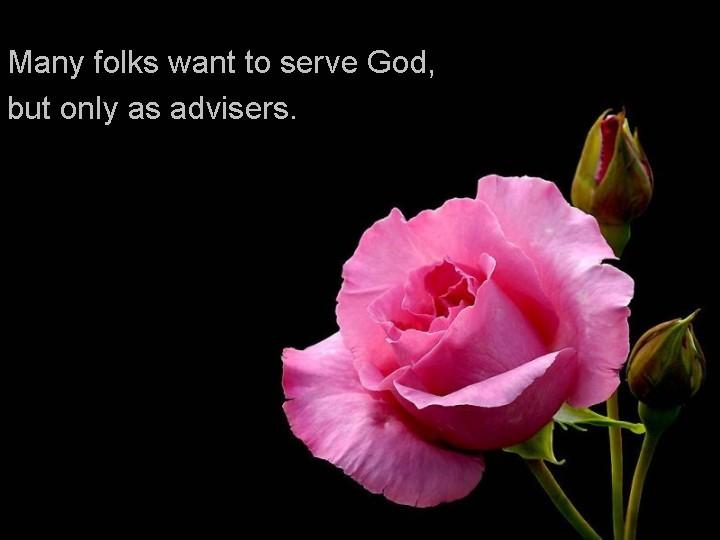 Serving God?