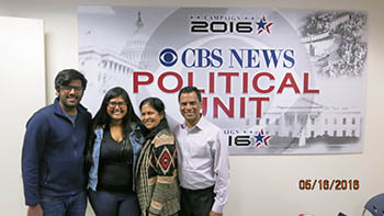Ann with family at CBS News