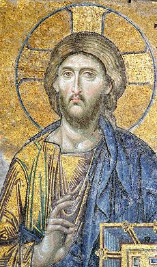 Christ the Pantocrator. Fresco in the Hagia Sophia, Constantinople