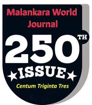 Issue CCL - 250 - Malankara World Journal Souvenir Edition