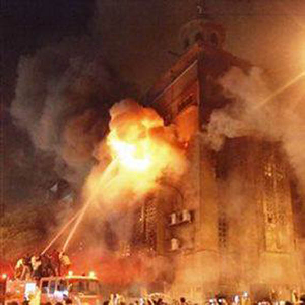 Church was set to fire in Egypt (2013)