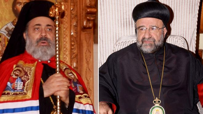 abducted orthodox Bishops in Syria, April 2013